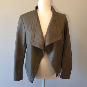 BB Dakota Taupe Leather Jacket